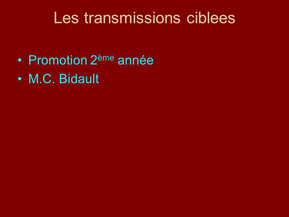 Les transmissions ciblees