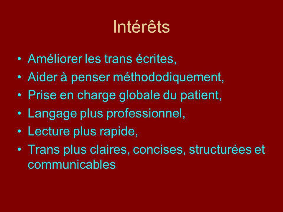 Intérêts Améliorer les trans écrites, Aider à penser méthododiquement,