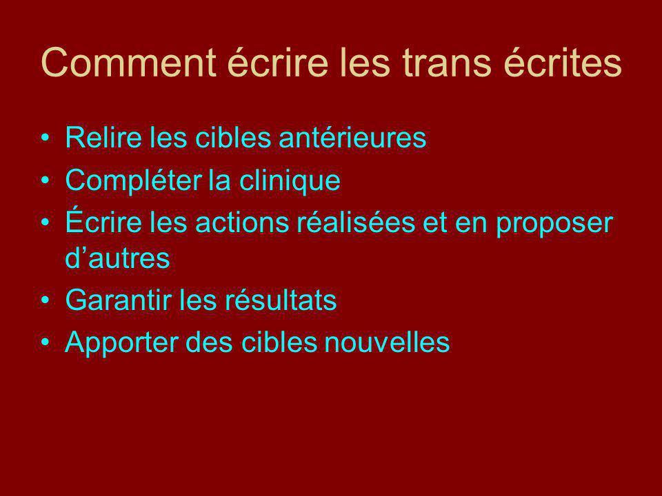 Comment écrire les trans écrites