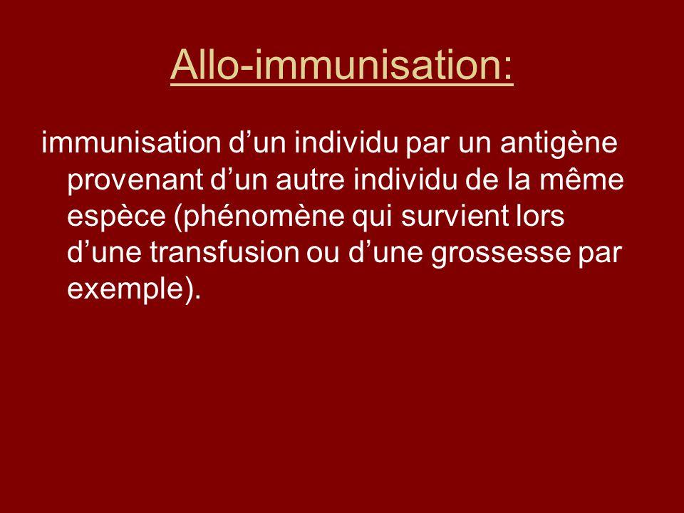 Allo-immunisation: