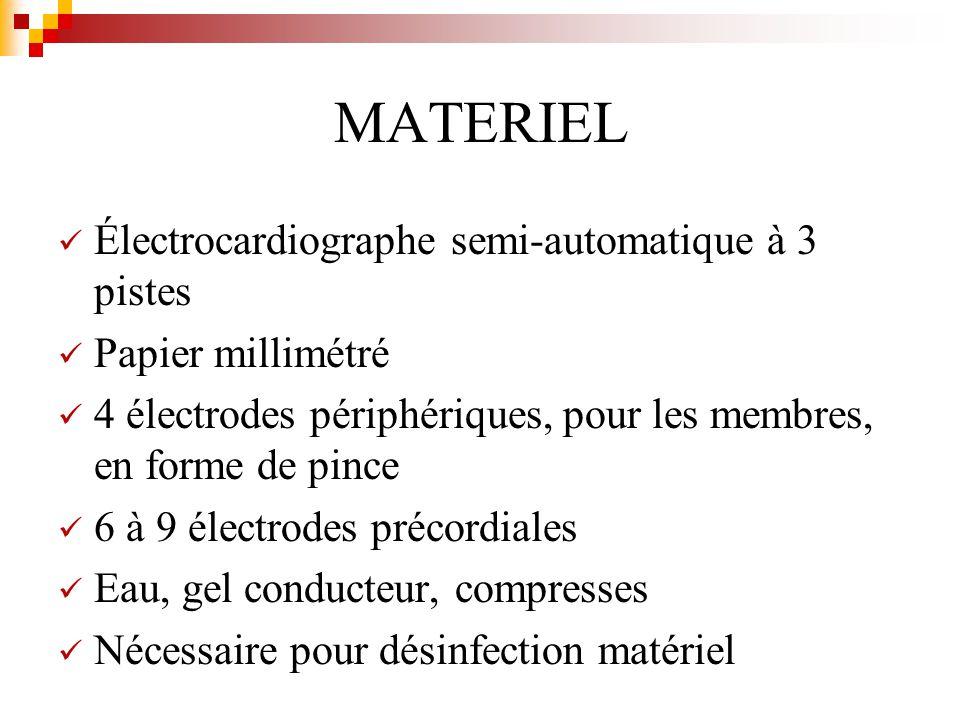 MATERIEL Électrocardiographe semi-automatique à 3 pistes