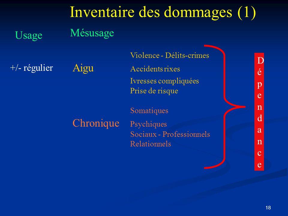 Inventaire des dommages (1)