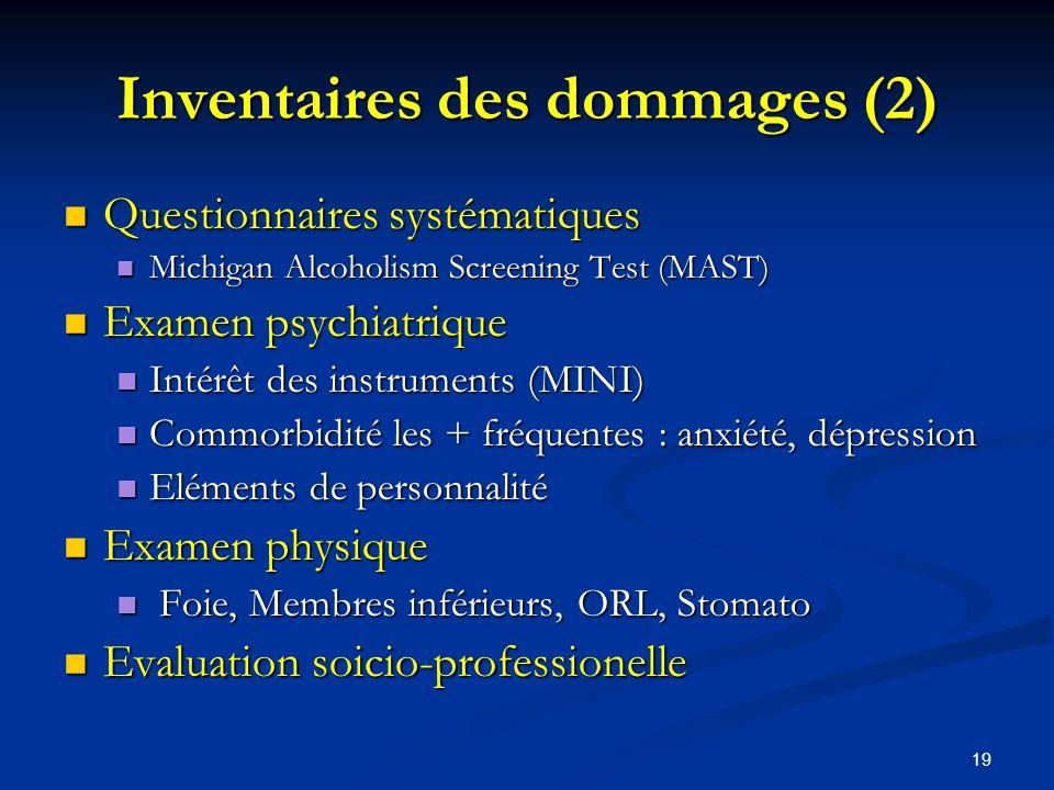 Inventaires des dommages (2)