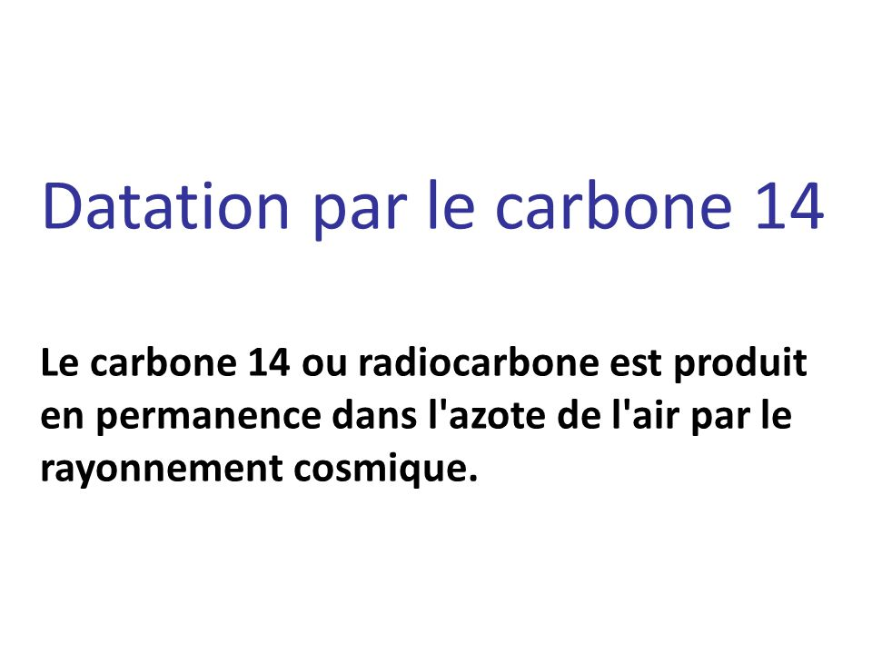 Datation par le carbone 14