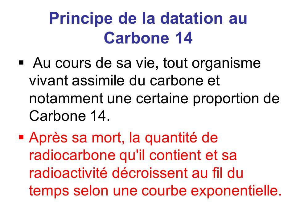 Principe de la datation au Carbone 14