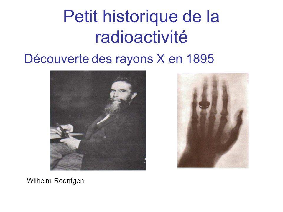 Petit historique de la radioactivité