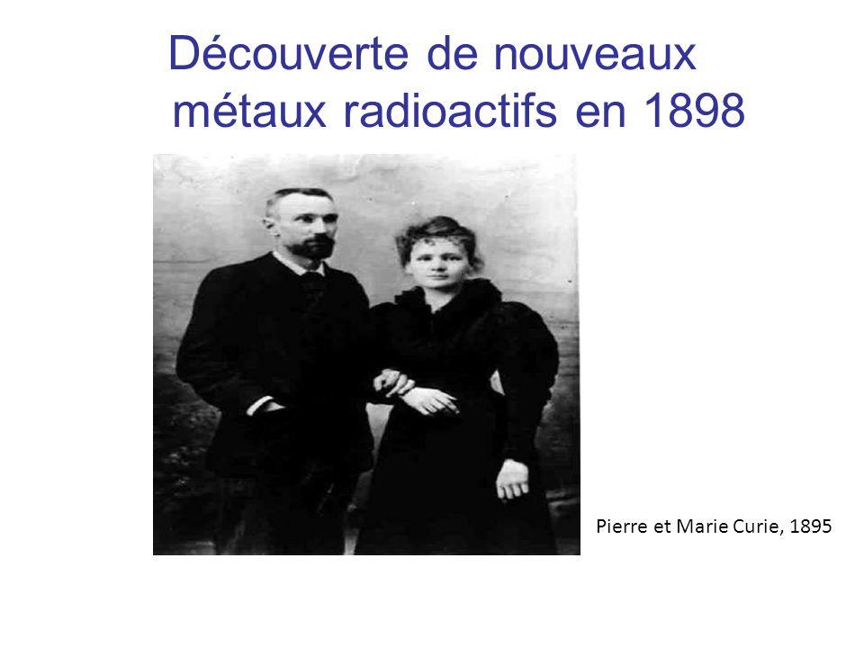 Découverte de nouveaux métaux radioactifs en 1898