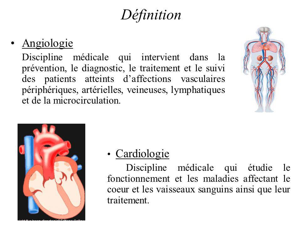 Définition Angiologie