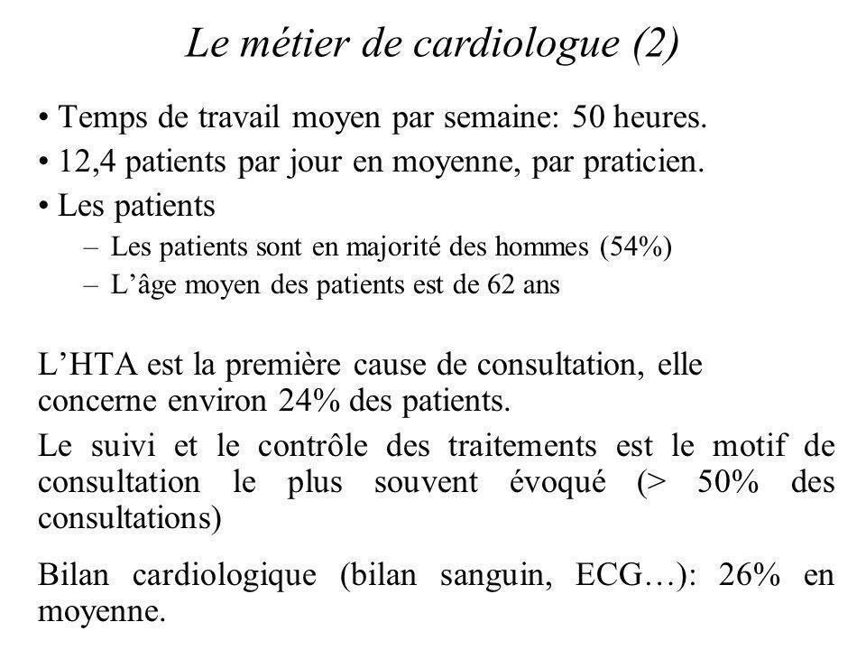 Le métier de cardiologue (2)