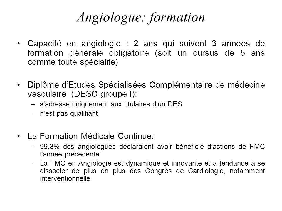 Angiologue: formation