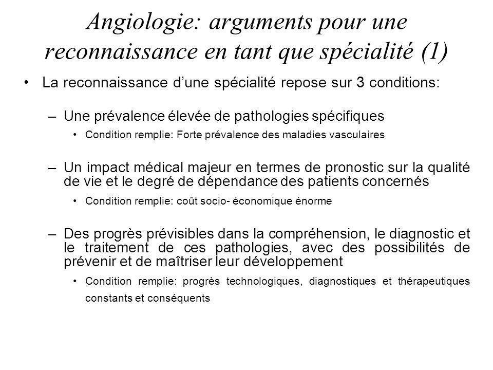 Angiologie: arguments pour une reconnaissance en tant que spécialité (1)