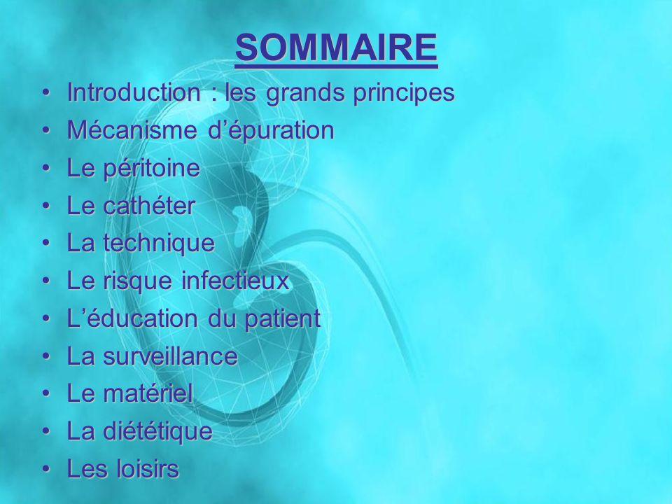 SOMMAIRE Introduction : les grands principes Mécanisme d'épuration