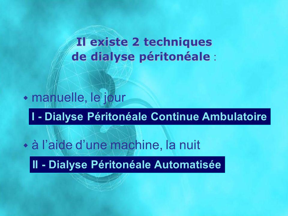 I - Dialyse Péritonéale Continue Ambulatoire