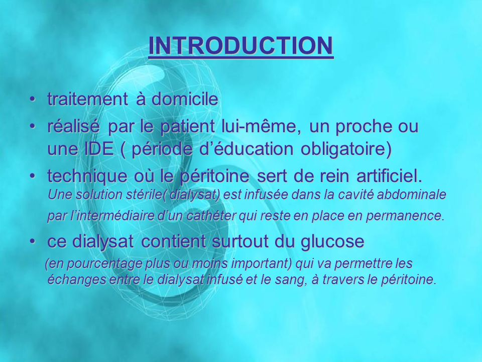 INTRODUCTION traitement à domicile