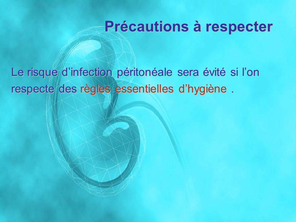 Précautions à respecter