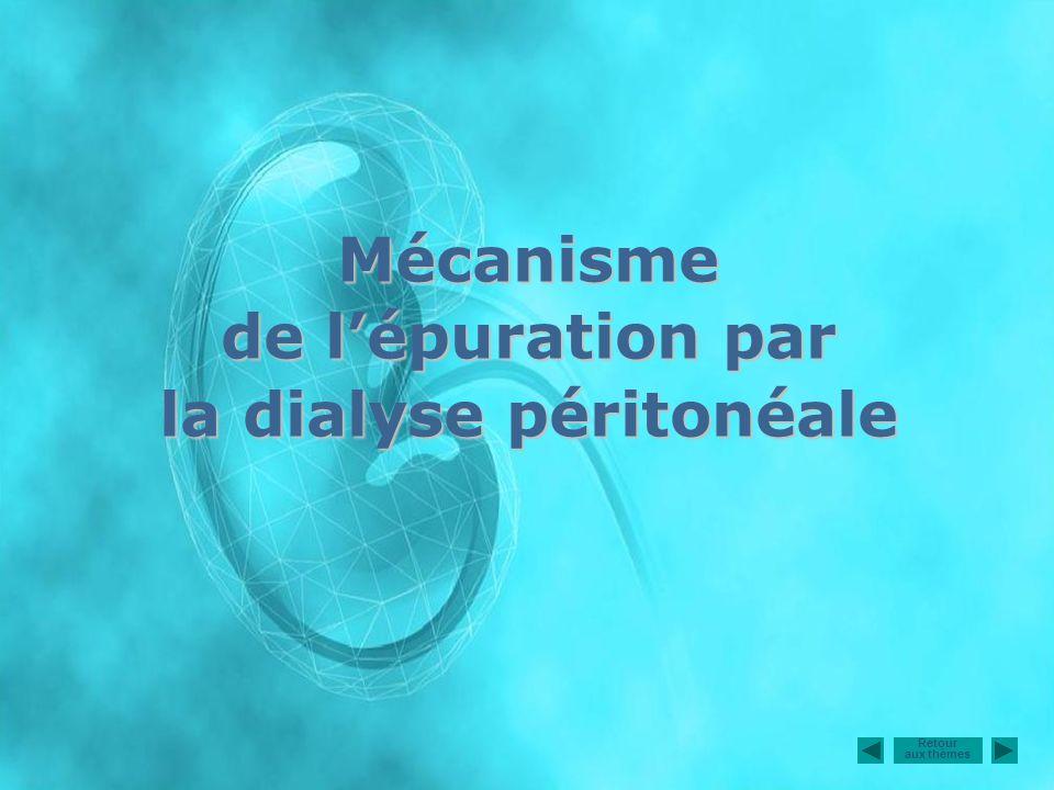 Mécanisme de l'épuration par la dialyse péritonéale