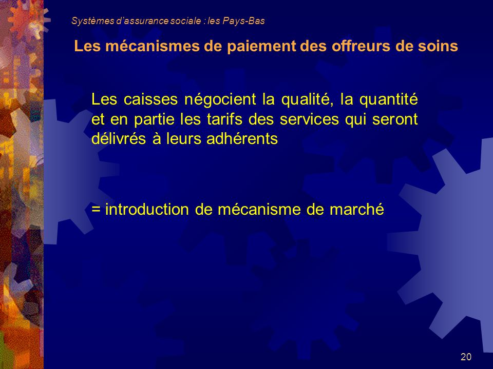 = introduction de mécanisme de marché