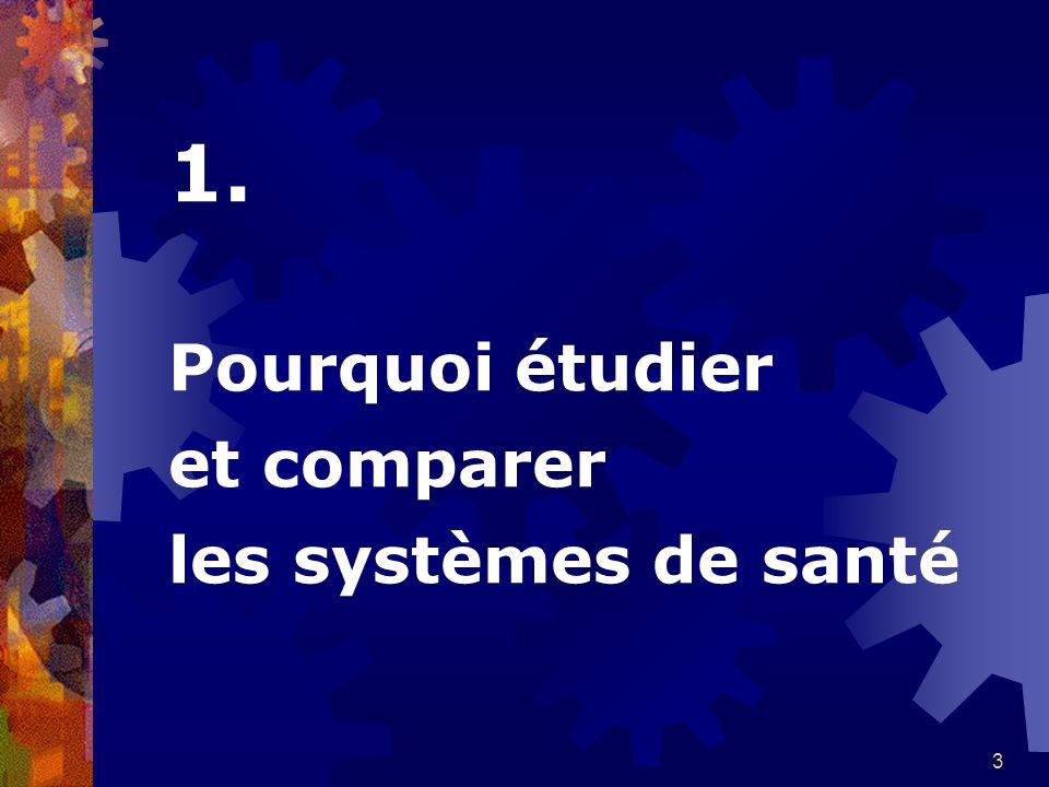 1. Pourquoi étudier et comparer les systèmes de santé
