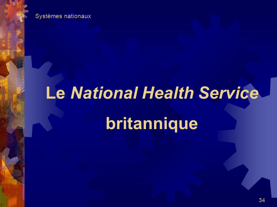 Le National Health Service britannique