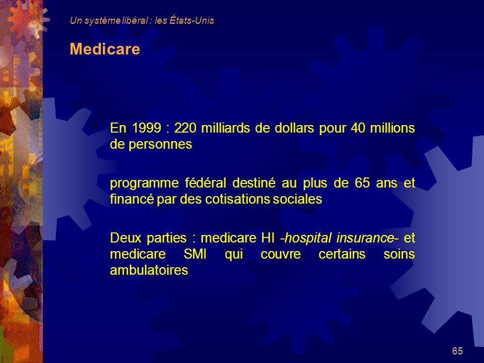 En 1999 : 220 milliards de dollars pour 40 millions de personnes