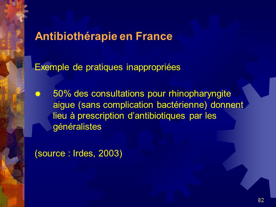 Antibiothérapie en France