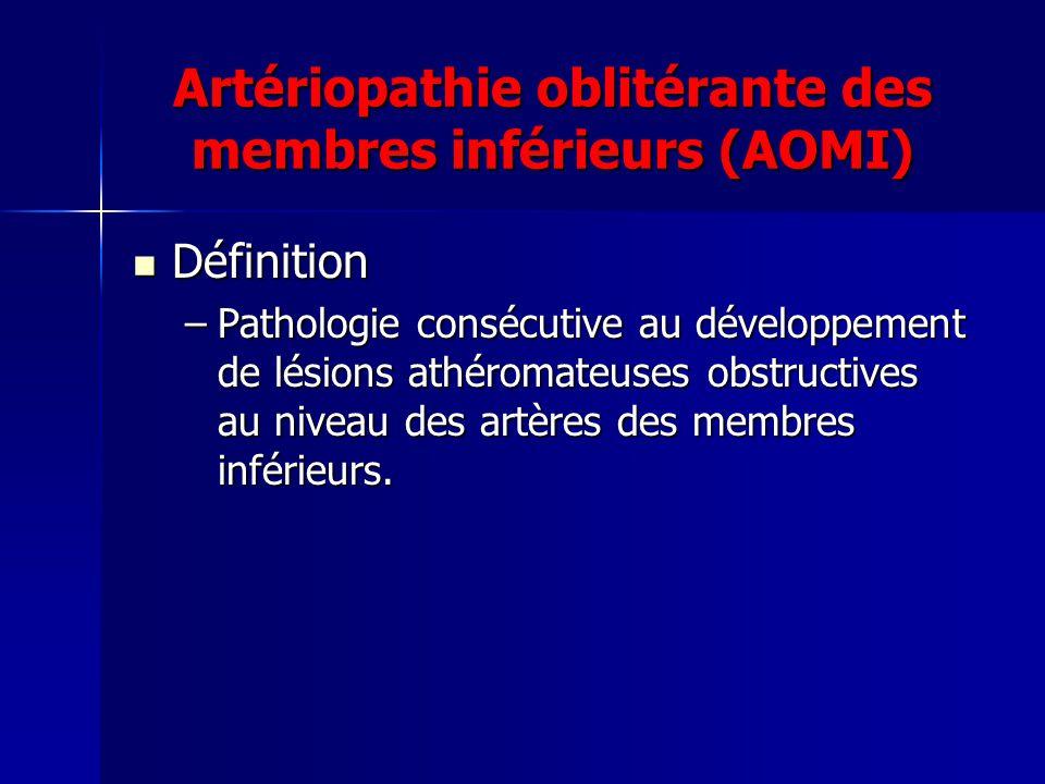 Artériopathie oblitérante des membres inférieurs (AOMI)