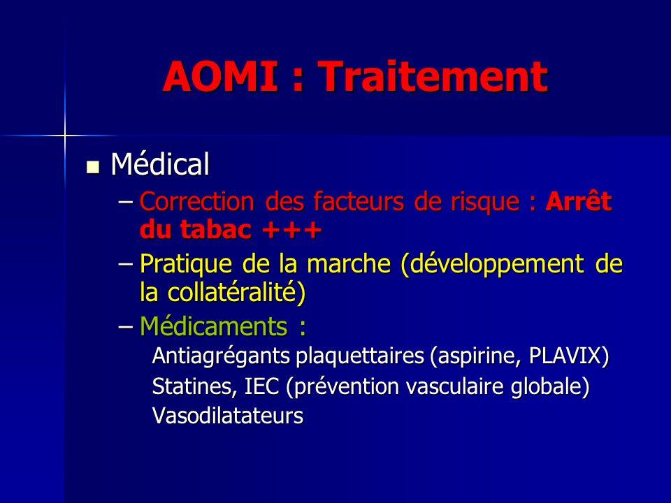 AOMI : Traitement Médical