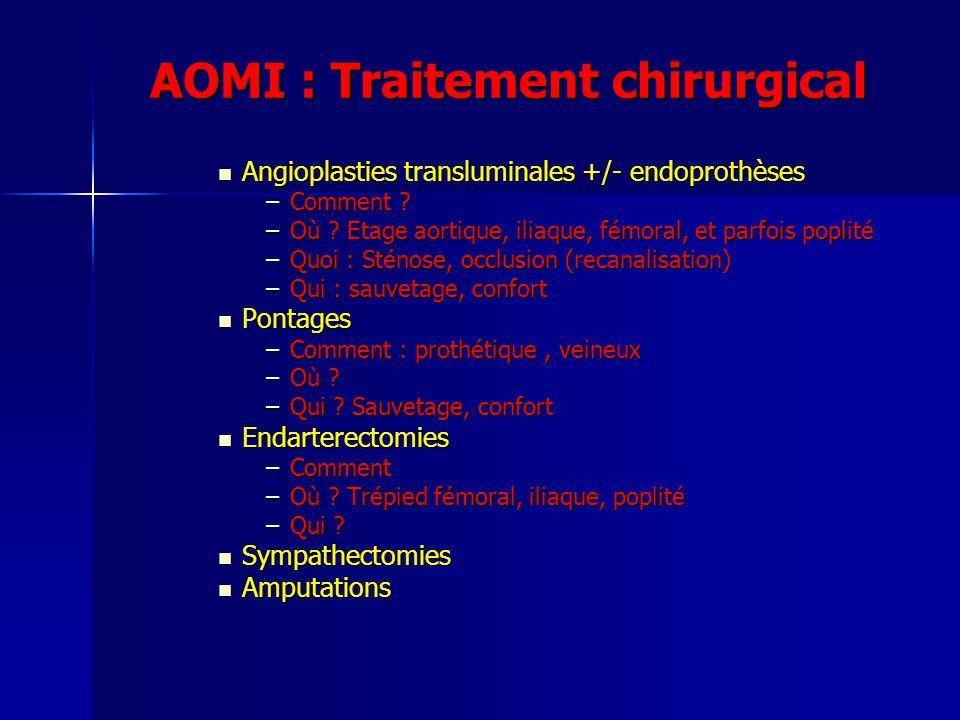 AOMI : Traitement chirurgical