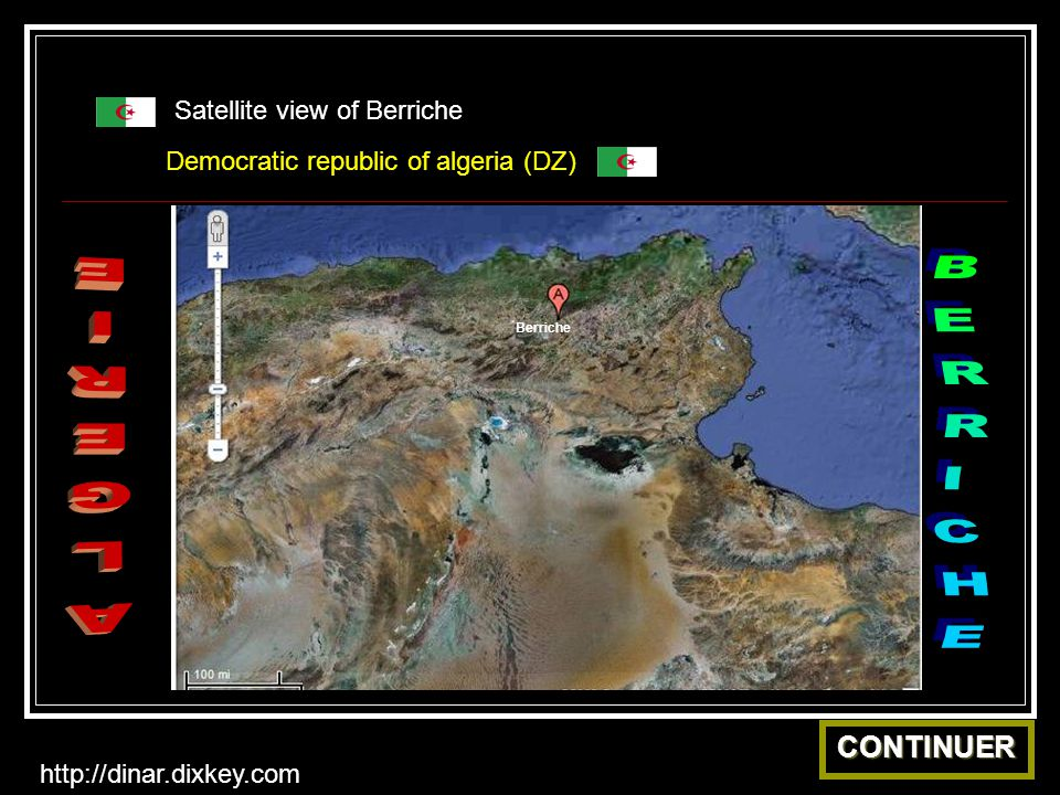 BERRICHE ALGERIE CONTINUER Satellite view of Berriche