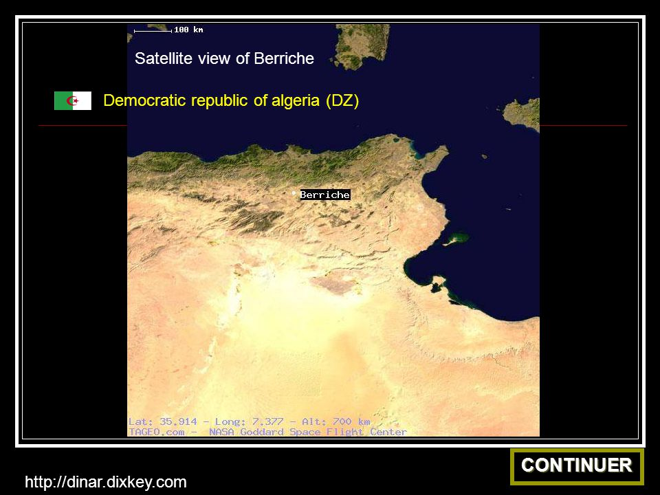 CONTINUER Satellite view of Berriche