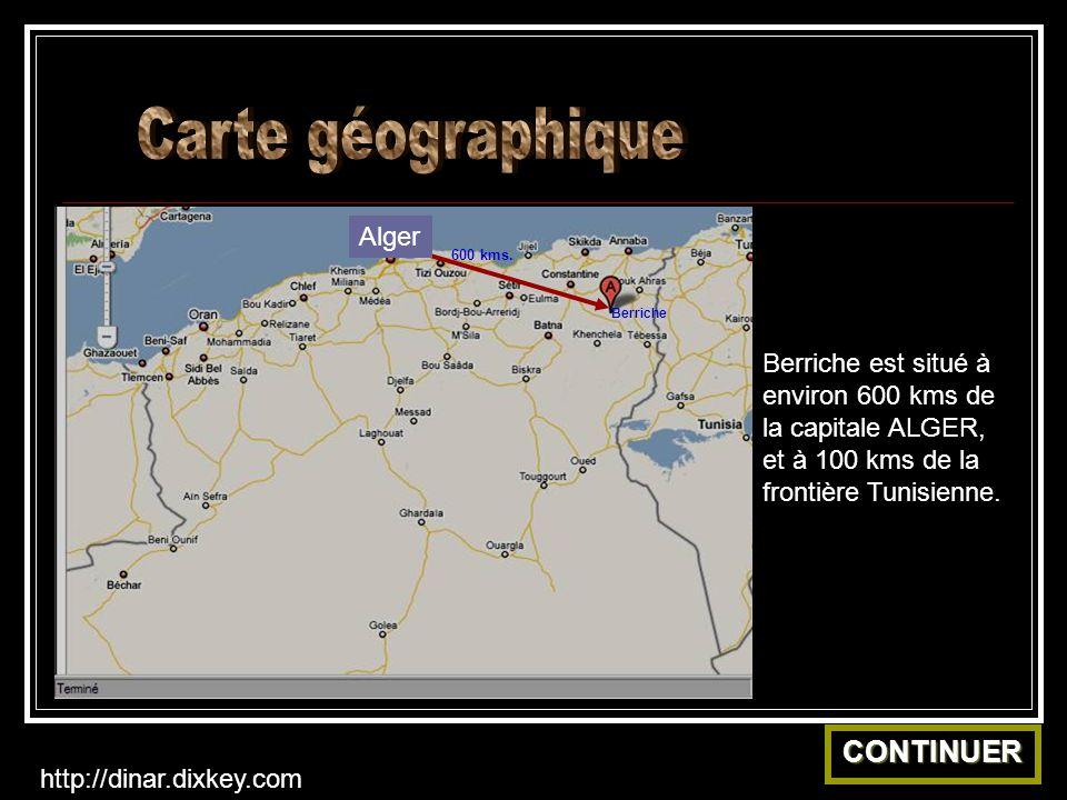 Carte géographique CONTINUER Alger