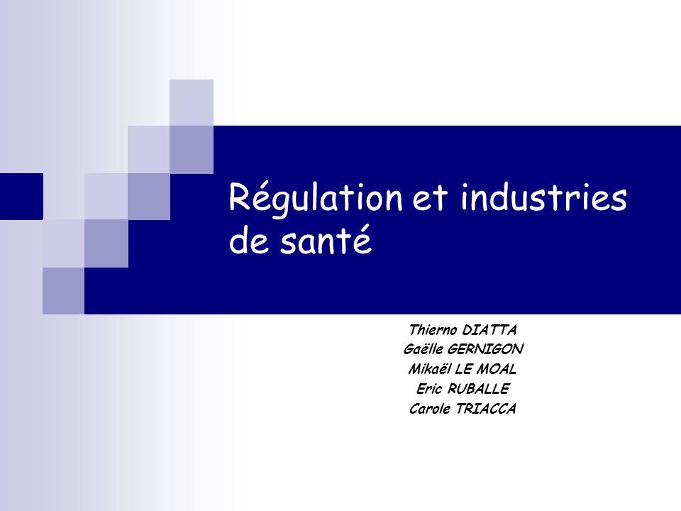 Régulation et industries de santé
