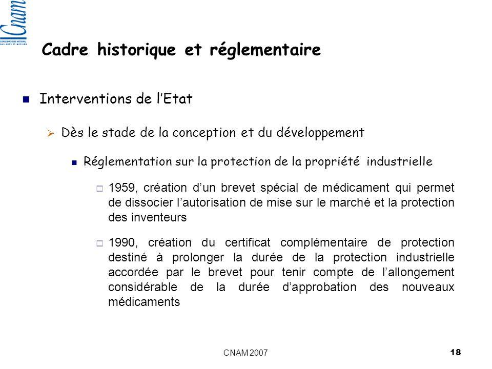 Cadre historique et réglementaire