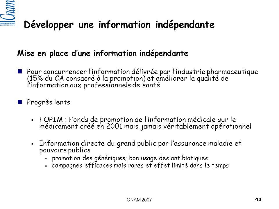 Développer une information indépendante