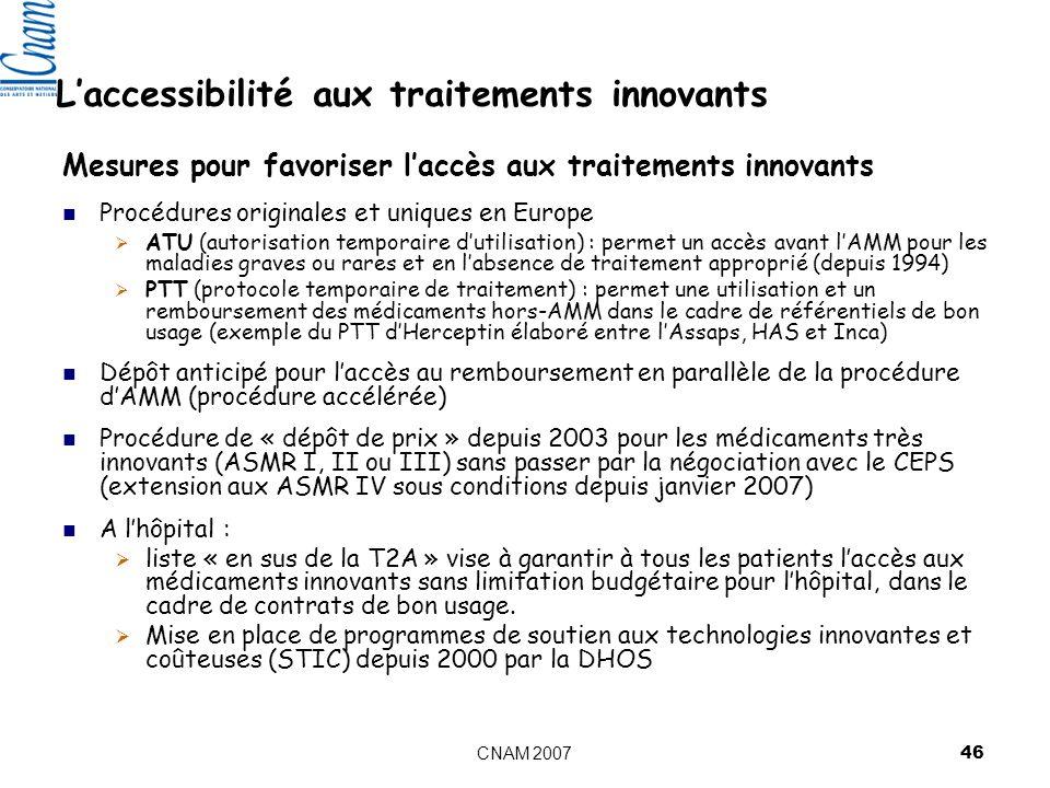 L'accessibilité aux traitements innovants