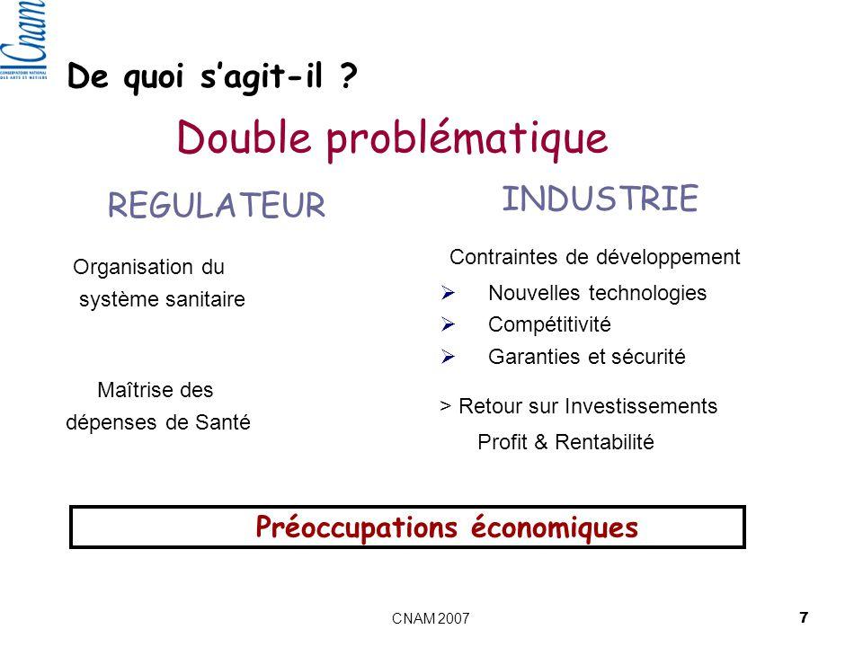 Préoccupations économiques