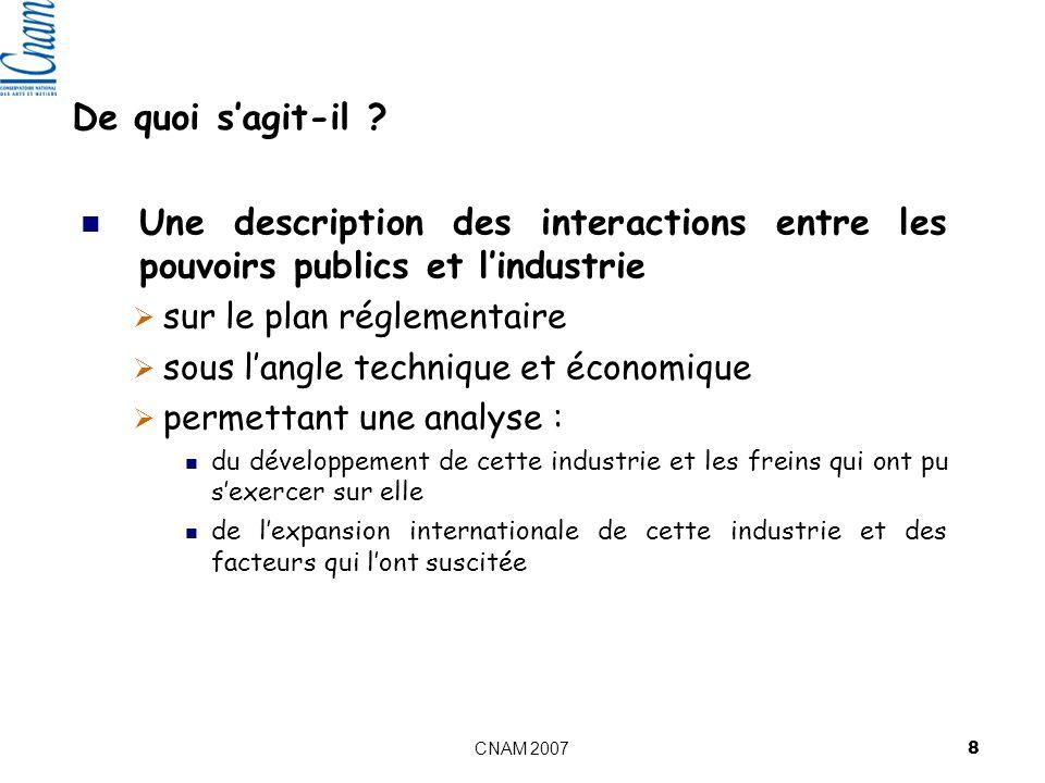 De quoi s'agit-il Une description des interactions entre les pouvoirs publics et l'industrie. sur le plan réglementaire.