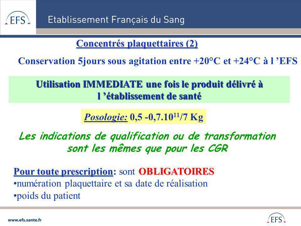 Concentrés plaquettaires (2)