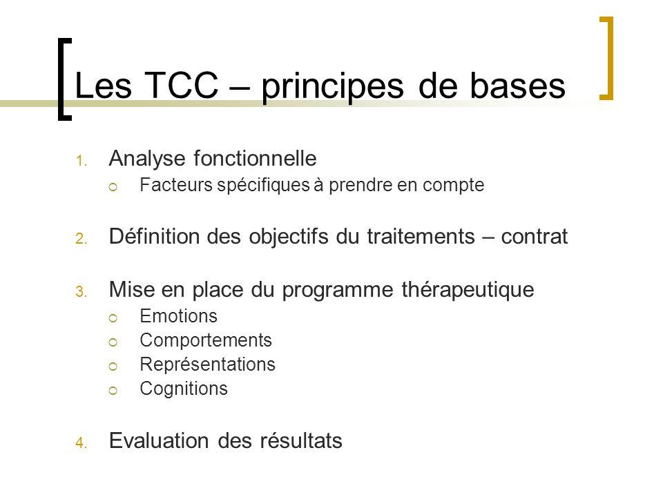 Les TCC – principes de bases