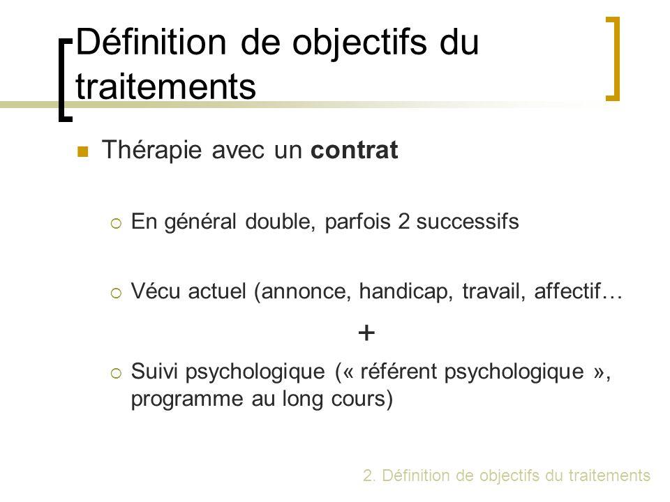 Définition de objectifs du traitements