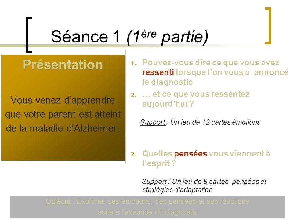 Séance 1 (1ère partie) Présentation Vous venez d'apprendre