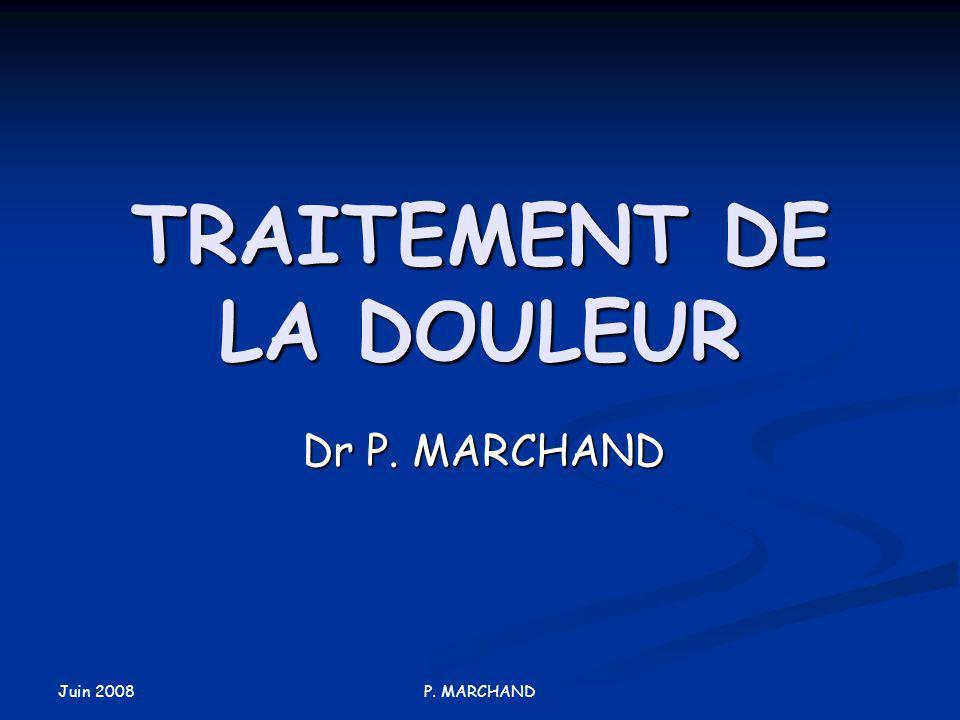 TRAITEMENT DE LA DOULEUR