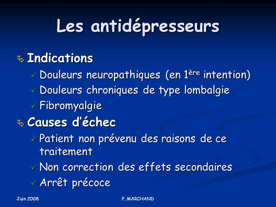 Les antidépresseurs Indications Causes d'échec