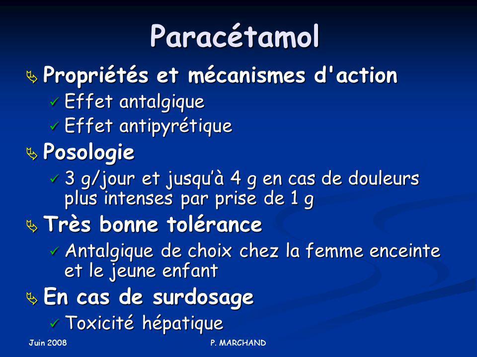 Paracétamol Propriétés et mécanismes d action Posologie