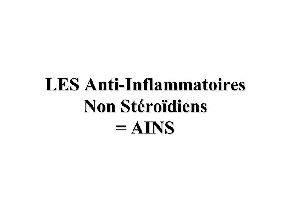 LES Anti-Inflammatoires Non Stéroïdiens = AINS