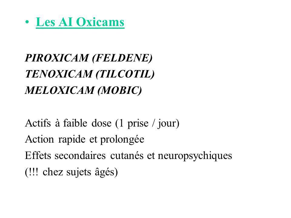 Les AI Oxicams PIROXICAM (FELDENE) TENOXICAM (TILCOTIL)