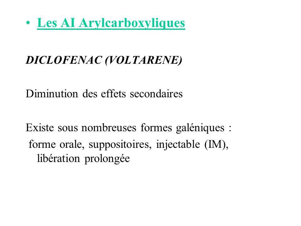 Les AI Arylcarboxyliques