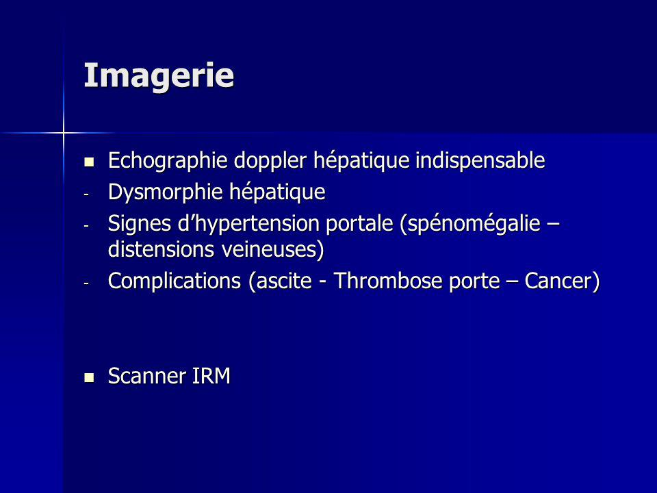 Imagerie Echographie doppler hépatique indispensable
