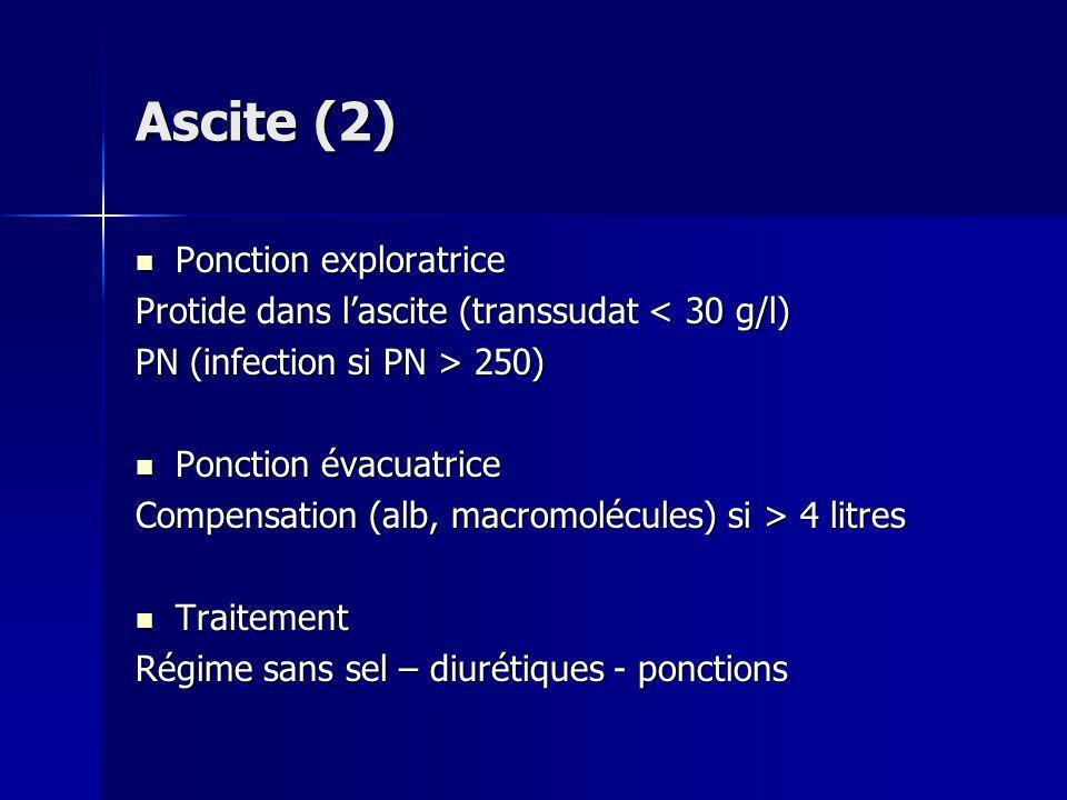 Ascite (2) Ponction exploratrice