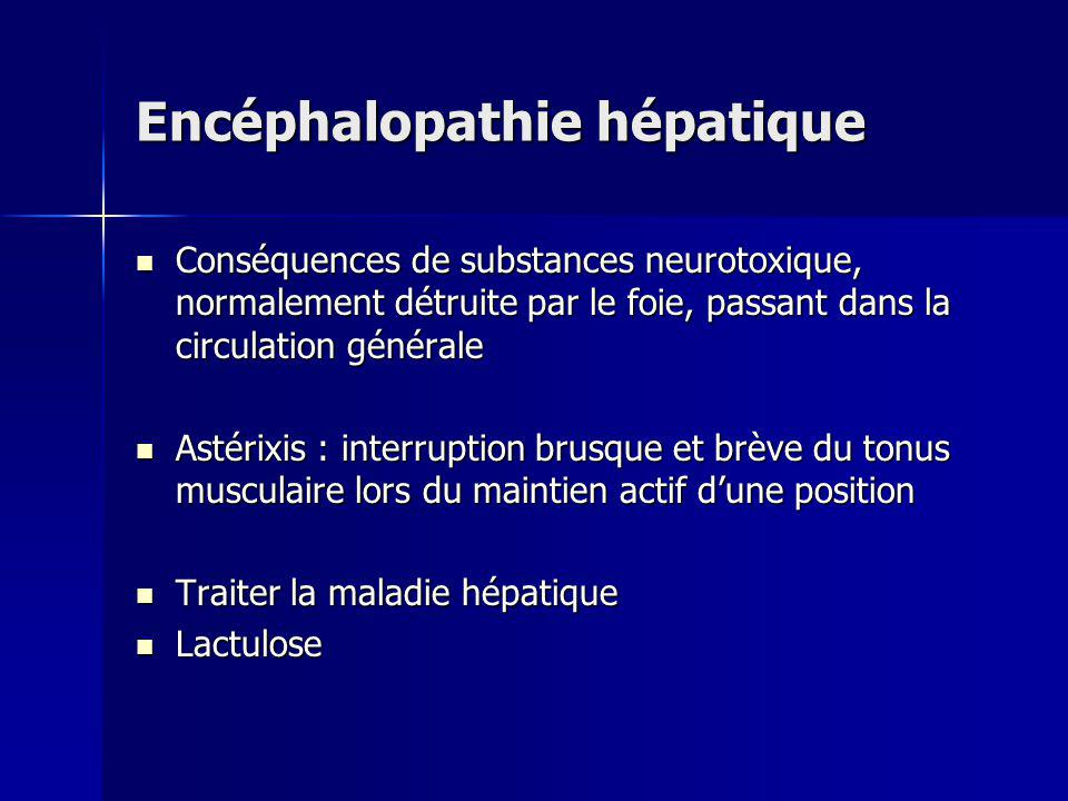 Encéphalopathie hépatique